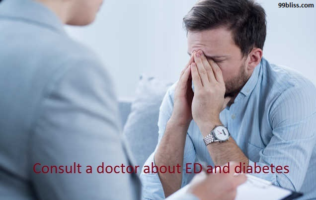 Consult a doctor about ED and Diabetes